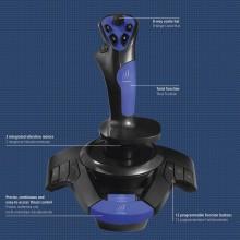 Жичен джойстик HAMA uRage Airborne 300, Aвиосимулатор за PC, Черен/Син