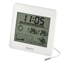Електронна метеостанция HAMA EWSC-100, LCD, Бял