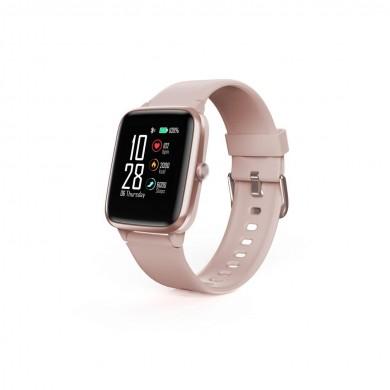 "Смарт часовник Hama Fit Watch 5910, 1.3"", GPS, Пулс, Пeдометър, Калории, Водоустойчив, Розов"
