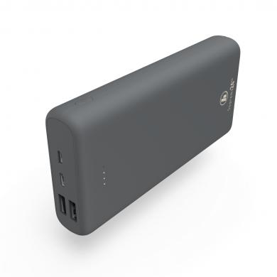 Външна батерия HAMA Supreme 24HD, 24000 mAh, LiPolym, USB-A/USB-C, Сив