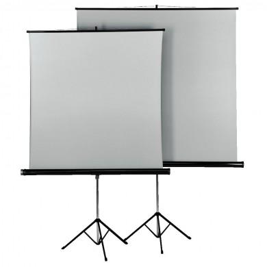 Проекторен екран със статив HAMA 18792, 125 x 125, 1:1, 2 лица