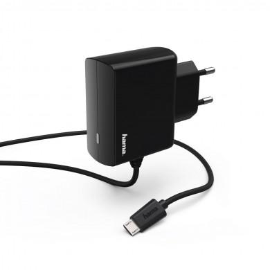 Зарядно HAMA 220V, micro USB, 2.4 A, Черен