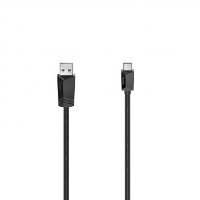Кабел HAMA USB 3.2 Gen 2, USB-C мъжко - USB-A мъжко, 1 м, 10 Gbit/s.,3А