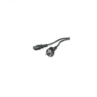 Универсален захранващ кабел HAMA , 3-pin socket, 2.5 m, Черен