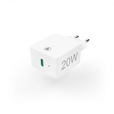 Мрежово зарядно HAMA Power Delivery (PD) / Qualcomm, USB-C, 20W, Бял