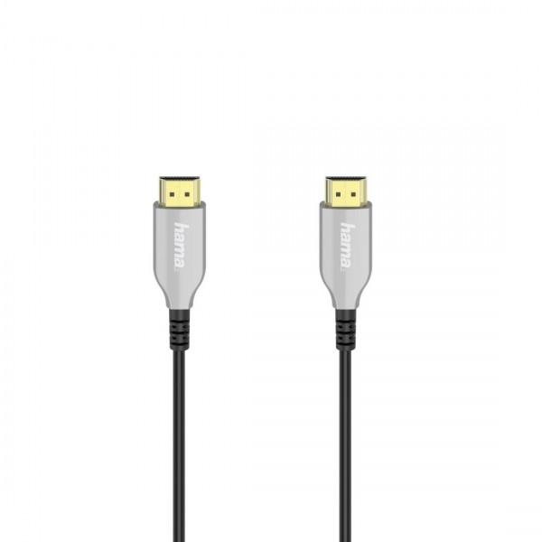 Оптичен активен кабел HAMA HDMI-HDMI, Ethernet, 18 Gbit/s, 20м, позл.конектори