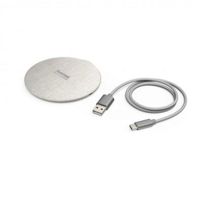 Безжично зарядно-комплект HAMA FC10 Metal, 10W, Бяло