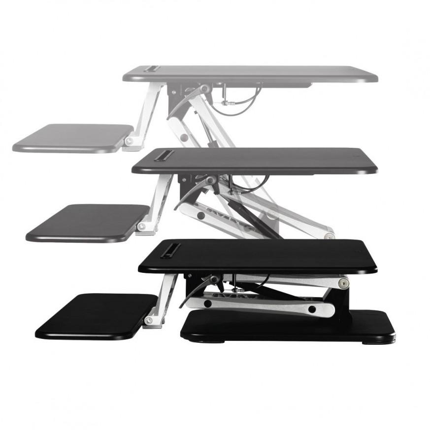 Ергономична поставка за бюро с  размер S (68.0 x 52.0) черен