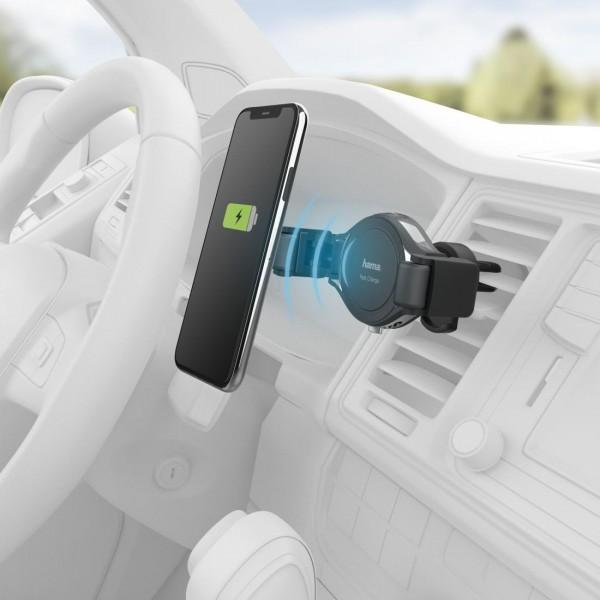 Безжично зарядно за кола HAMA FC-10C Flex, 10 W, Черно