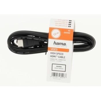 Кабел HAMA HDMI 205001, мъжко-мъжко, 3 м, Екраниран