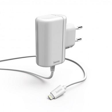 Зарядно HAMA 178262, 220V Lightning за Apple iPhone/iPad, 5 V/2.4 A, бял