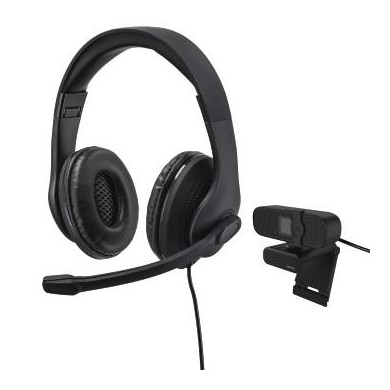 Комплект за стрийминг Hama 139999, Камера C-400 FullHD и слушалки с микрофон HS-USB300, USB