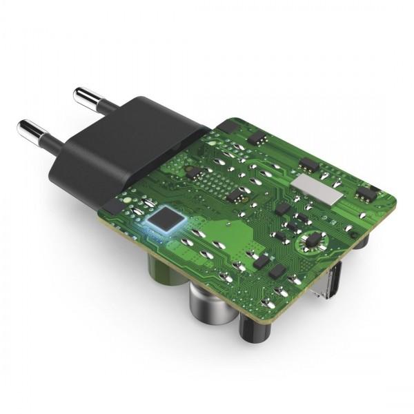 Мрежово зарядно HAMA 220V Power Delivery (PD), Qualcomm,USB-C, 25W, Черен