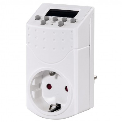 Седмичен дигитален таймер HAMA Mini 121951, Бял