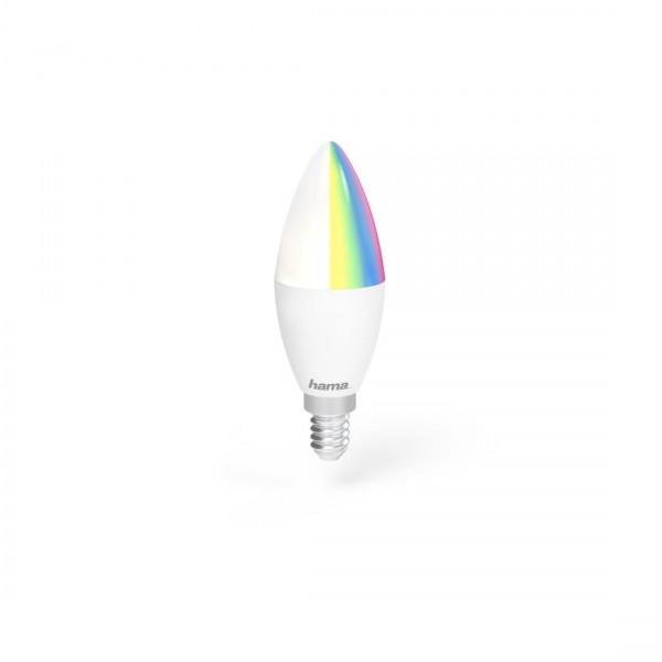 Димираща крушка HAMA WiFi-LED, RGBW, 5.5W, E14, 470 lm