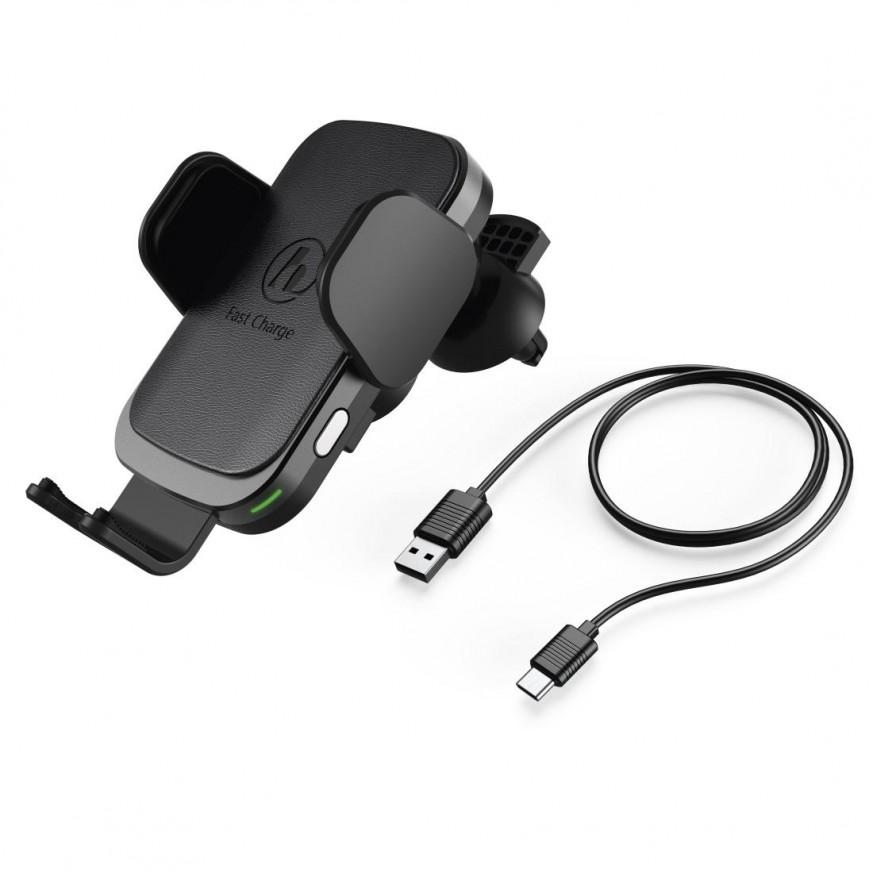 Безжично зарядно за кола HAMA FC10 Motion, 10W, Черно