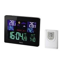 Електронна метеостанция HAMA Color EWS-1400, черен