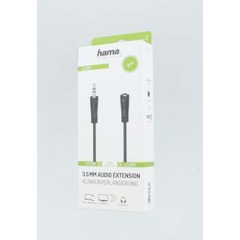 Аудио удължителен кабел HAMA 3.5мм стерео жак мъжки/женски, 3м