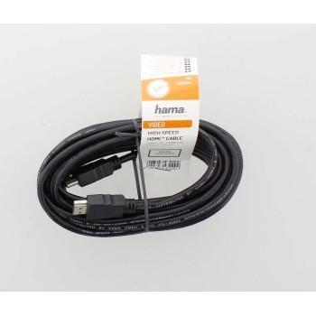 Кабел HAMA HDMI мъжко-мъжко, 10Gbit/s, 1080p, 5 м, Екраниран