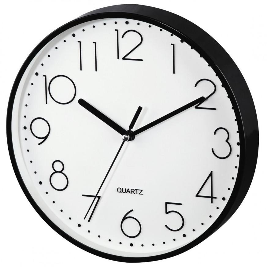 Стенен часовник Hama PG-220, Ниско ниво на шум, Черен