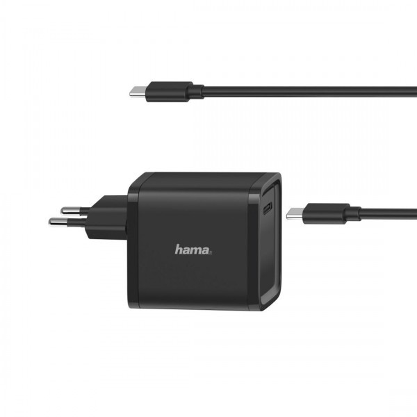 Зарядно HAMA Universal, 220V, 5-20V/45W, USB-C, Power Delivery