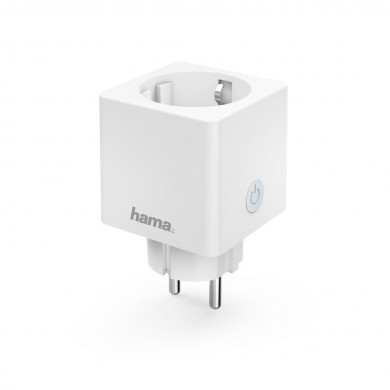 Смарт контакт HAMA Mini, WiFi, 3680W, 16A,измерване на сумарна енергийна консумация
