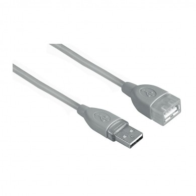 Удължителен кабел HAMA 45040 USB-A женско - USB-А мъжко, 3 м, 1 звезда, екраниран