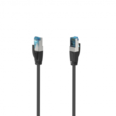 Мрежов пач кабел HAMA S/FTP, CAT 6a, RJ-45 - RJ-45, 10Gbit/s, 1.5 m, Черен