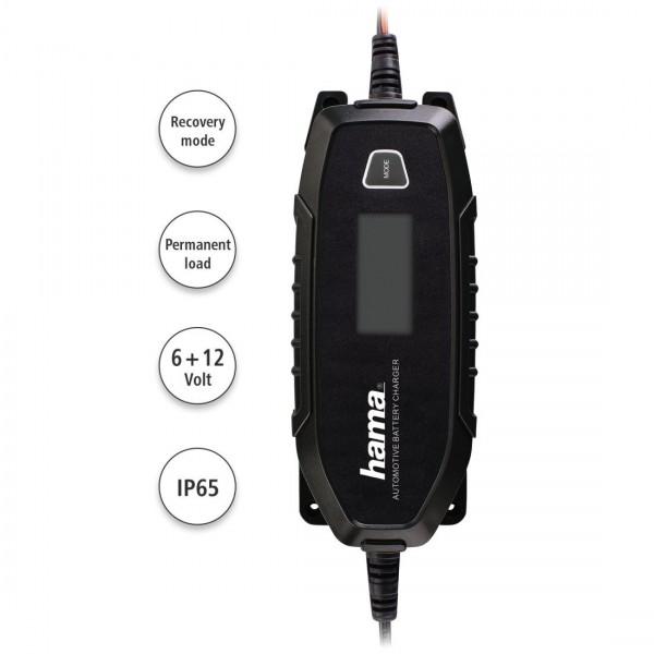 Зарядно устройство за акумулатор HAMA 136686, 6V / 12V / 4A, за автомобили / лодки / мотоциклети, 220 V