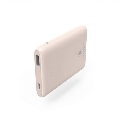 Външна батерия HAMA SLIM 5HD, 5000 mAh, LiPolym, USB-A, Розов