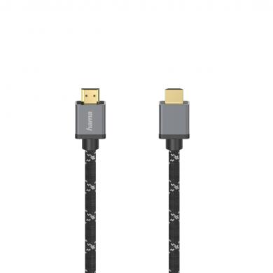 Кабел HAMA Ultra HD HDMI мъжко - HDMI мъжко, 8K, 48GB/s,метал, 2 м, позл. конектори
