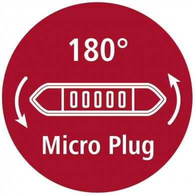 Кабел HAMA Flexi-Slim USB 2.0 - micro USB, 0.75 м., Позлатени конектори, Син