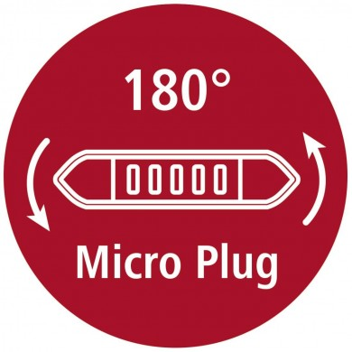 Кабел HAMA Flexi-Slim USB 2.0 - micro USB, 0.75 м., Позлатени конектори, Черен