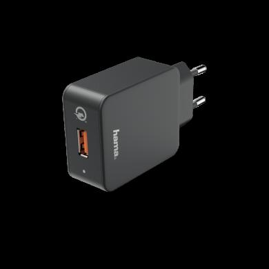 Зарядно  220V Qualcomm Quick Charge 3.0 178238, USB-A Черен