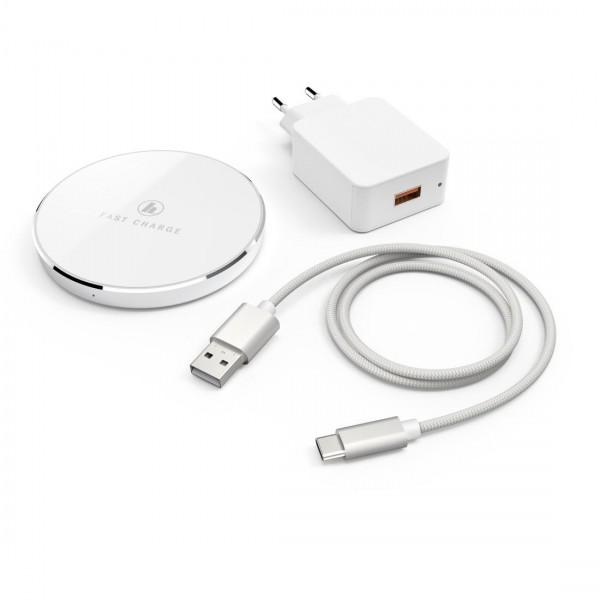 Безжично зарядно -комплект HAMA  FC7,5iP, 10W, Бял