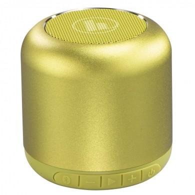 Безжична смарт тонколона HAMA Drum 2.0, Bluetooth, 3.5mm жак, 3.5W, Жълто-зелен