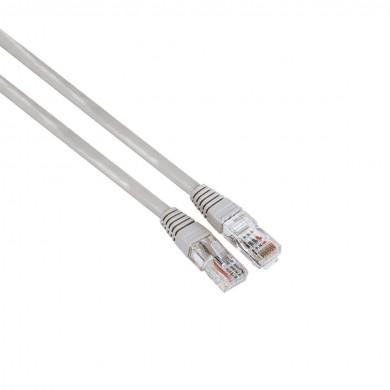 Мрежов кабел HAMA,CAT 5e, FTP/UTP, RJ-45 - RJ-45, 5м, екраниран, Сив, булк опаковка