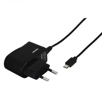 Зарядно HAMA 220V, micro USB, 1 A, с кабел, Черен
