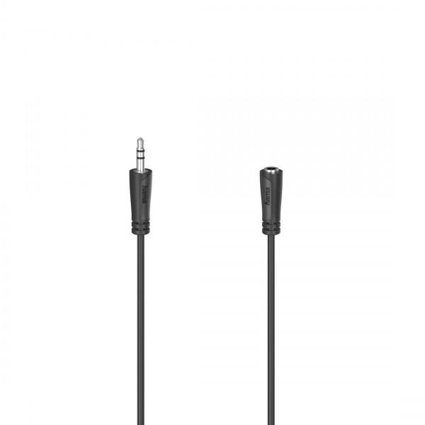 Аудио удължителен кабел HAMA 3.5 мм стерео жак мъжки/женски, 5м