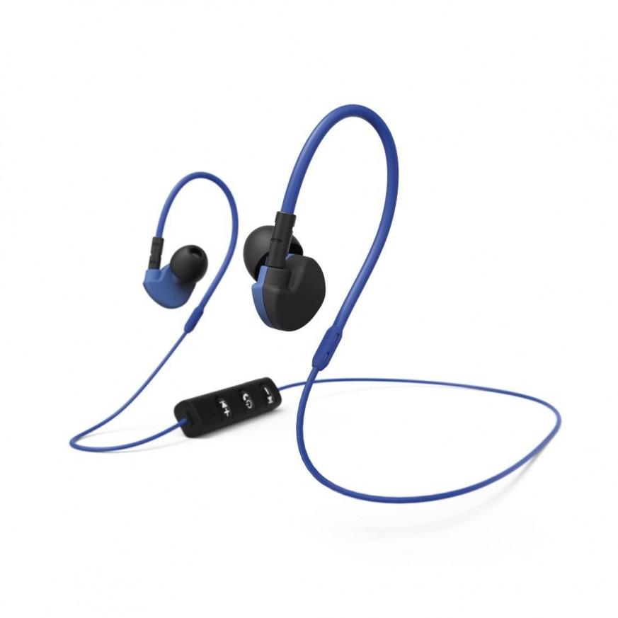 Спортни слушалки HAMA Active BT 177096, In-Ear, Bluetooth, Микрофон, Черен/Син