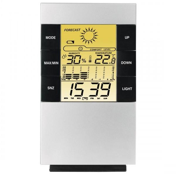 Цифров термометър/хигрометър HAMA TH-200 186379, Черен/Сив