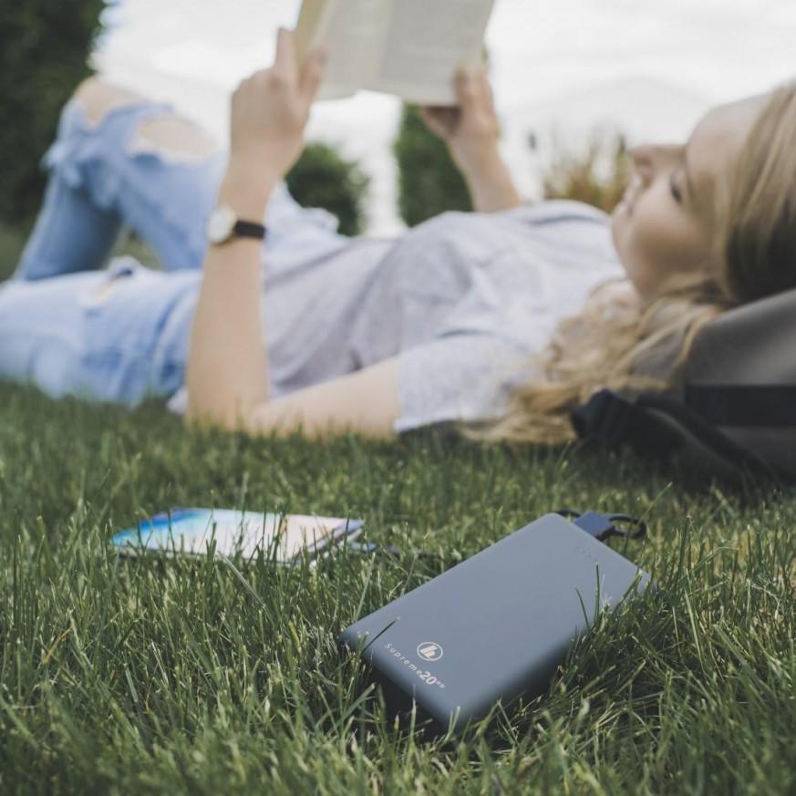 Външна батерия HAMA Supreme 20HD, 20000 mAh, LiPolym, USB-A/USB-C, Сив, 187292