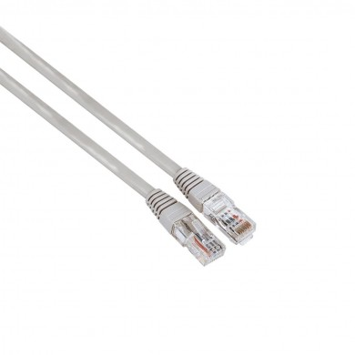 Мрежов кабел HAMA, CAT 5e, FTP/UTP, RJ-45 - RJ-45, 3 m, екраниран, сив, булк опаковка