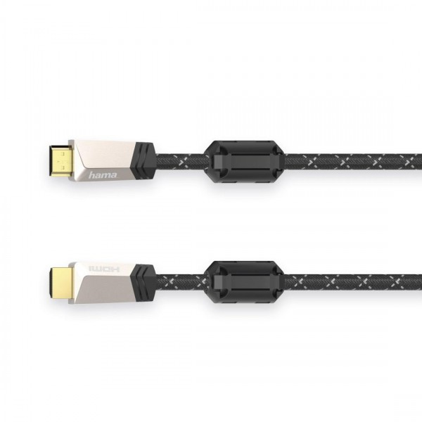 Кабел HAMA Premium, HDMI мъжко - HDMI мъжко, 1.5 м, Ферит, Позлатени конектори