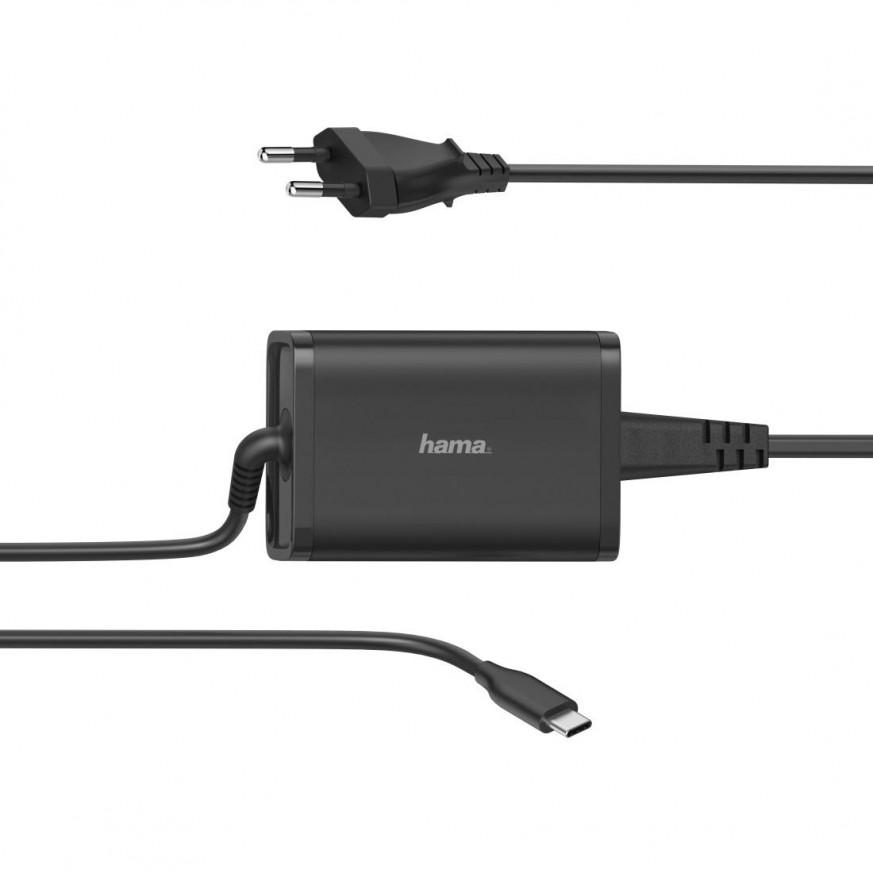 Зарядно HAMA Universal, 220V, 5-20V/65W, USB-C, Power Delivery
