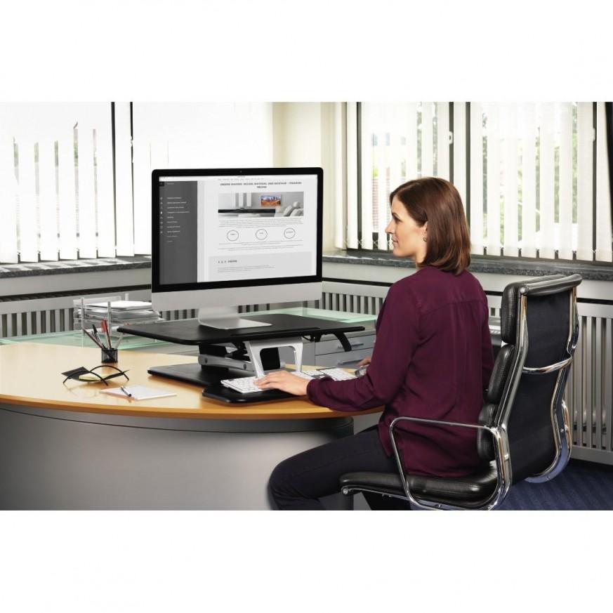 Ергономична поставка за бюро, размер M (80.0 x 52.0), черен