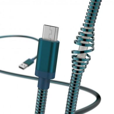 Кабел HAMA Metal, USB 2.0 - micro USB, 1.5 м., син