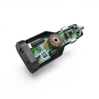 Зарядно за кола HAMA 200010, (PD), 5-20V/70W, USB-C Cable, 1 m, Черен