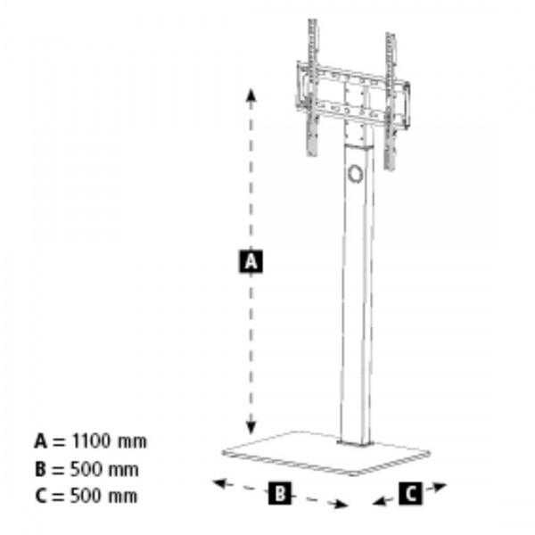 Поставка HAMA 118096, за TV, подвижна, 165 cm (65