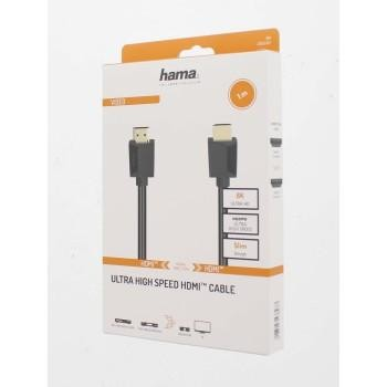 Кабел HAMA High Speed, HDMI мъжко - HDMI мъжко, 8K, 48GB/s, Ethernet , 1 м, позл. конектори